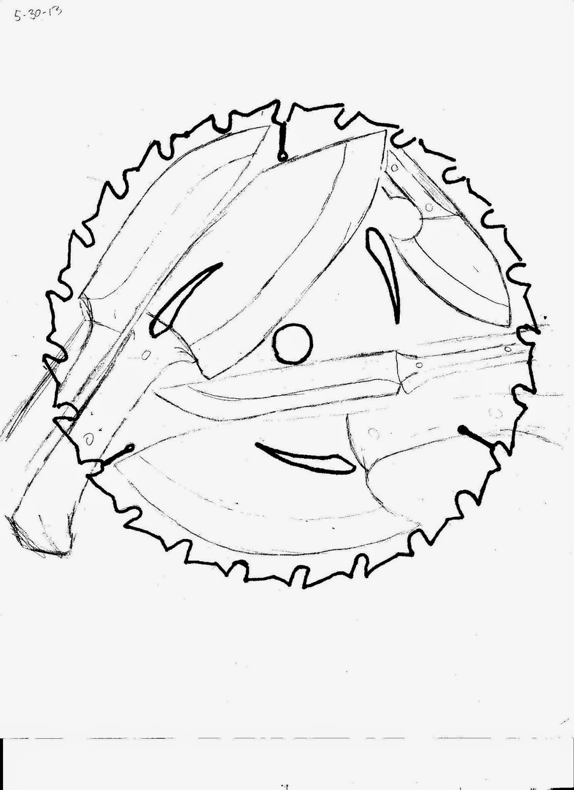 1163x1600 Blackheart Forge Circular Saw Blade Knife Concept