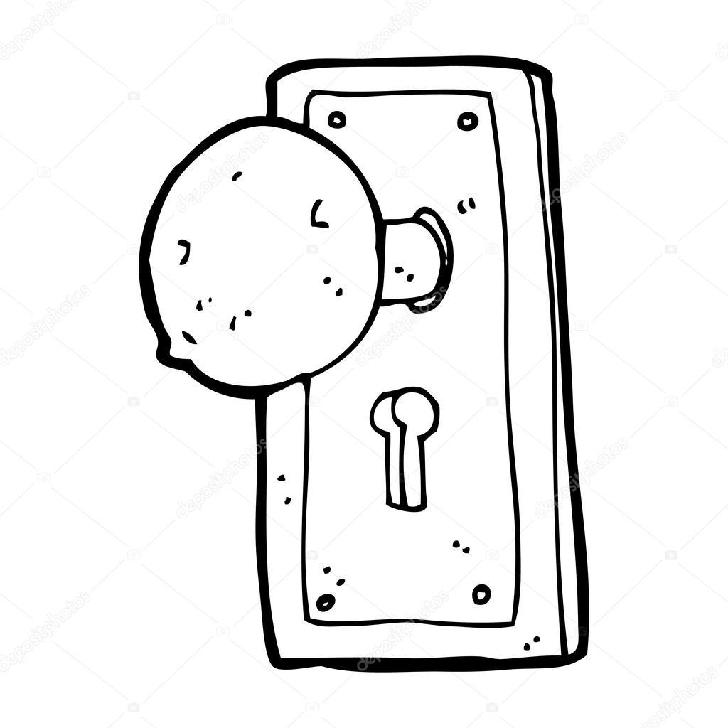 1024x1024 Cartoon Old Door Knob Stock Vector Lineartestpilot