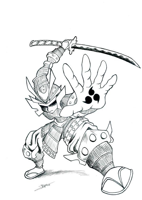 596x842 Samurai Drawings