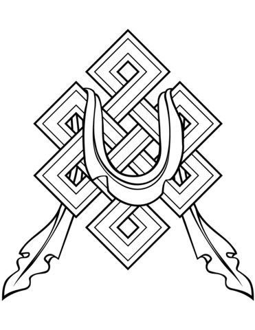 371x480 Faith Buddhism Endless Knot Coloring Page Free Printable