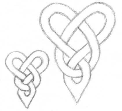 421x384 Love Knot Tattoo Drawings Things To Draw