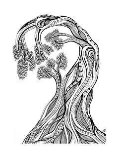 240x300 Wood Knot Drawings Fine Art America