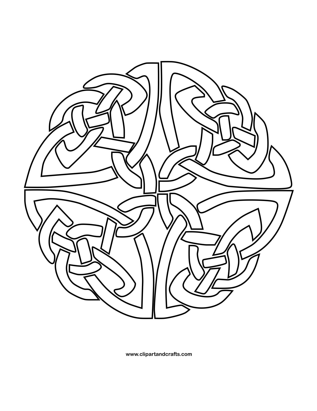 1275x1650 Celtic Knot Circle