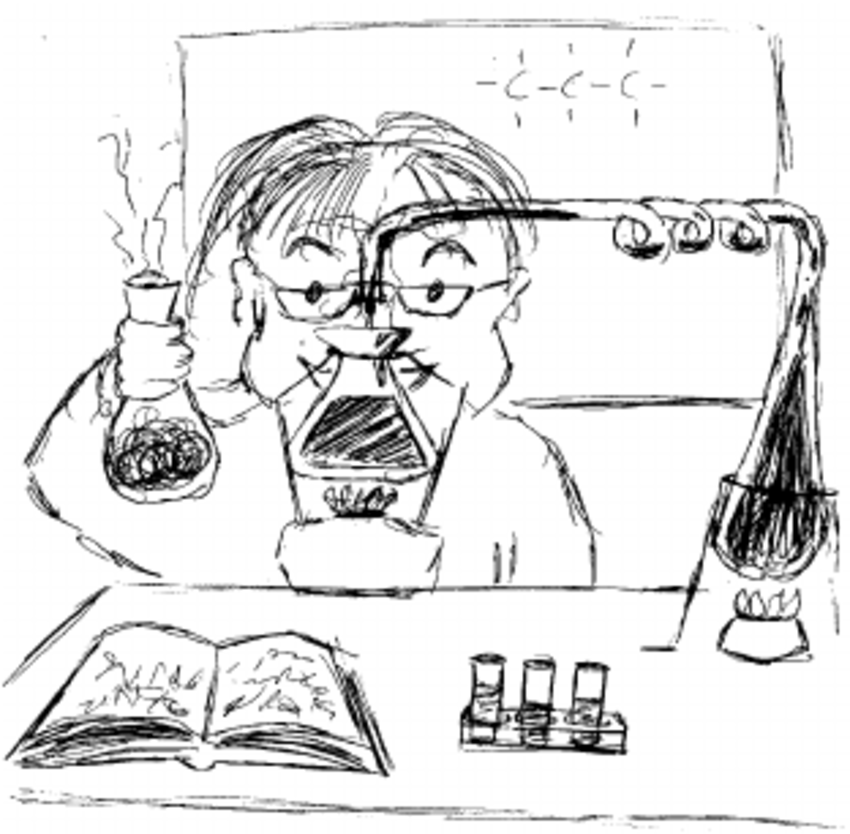 850x834 Depiction Of A Male Scientist Wearing Glasses, Using Knowledge
