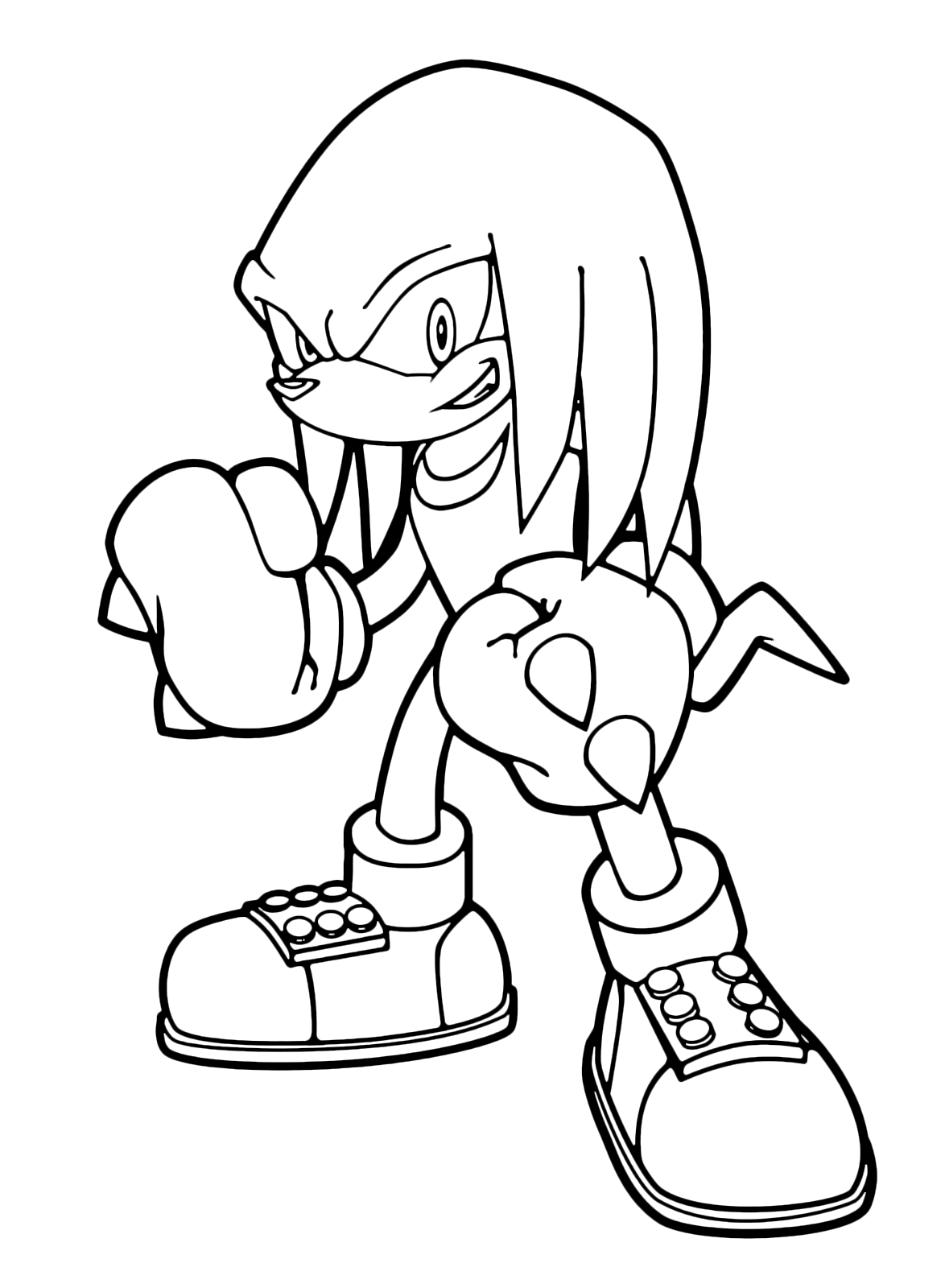 Knuckles The Echidna Drawing at GetDrawings | Free download