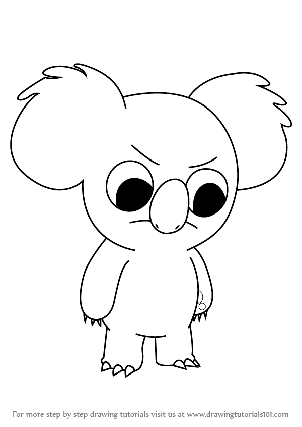 360x480 koalas coloring pages free coloring pages 600x846 learn how to draw nom nom from we