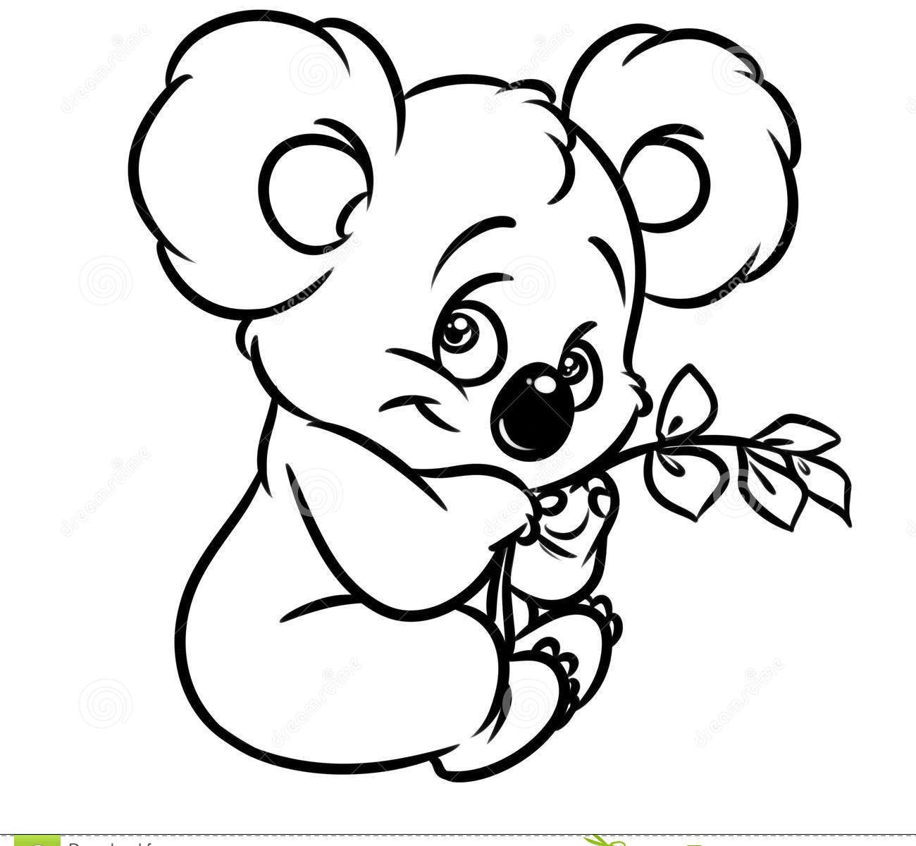 Koala Cartoon Drawing at GetDrawings Free for