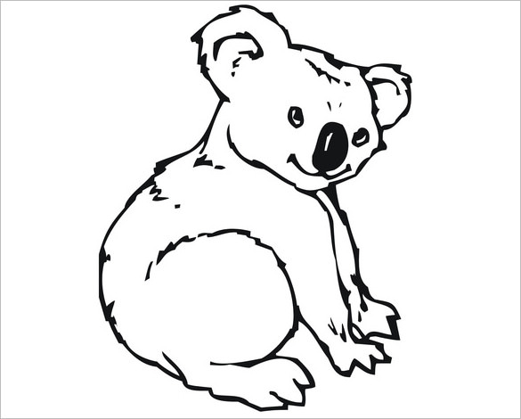 Line Drawing Koala : Koala silhouette at getdrawings free for personal
