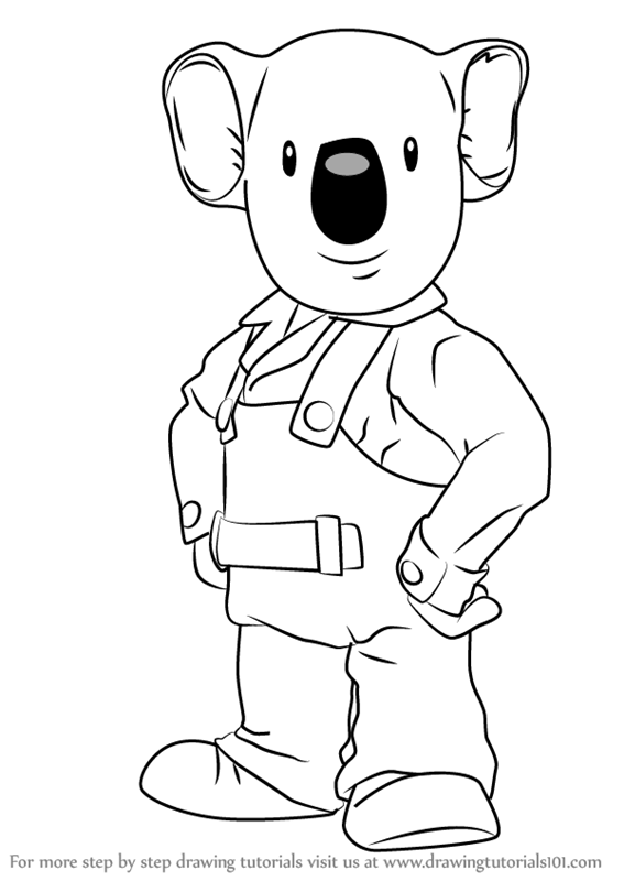 567x800 Learn How To Draw Frank From The Koala Brothers (The Koala