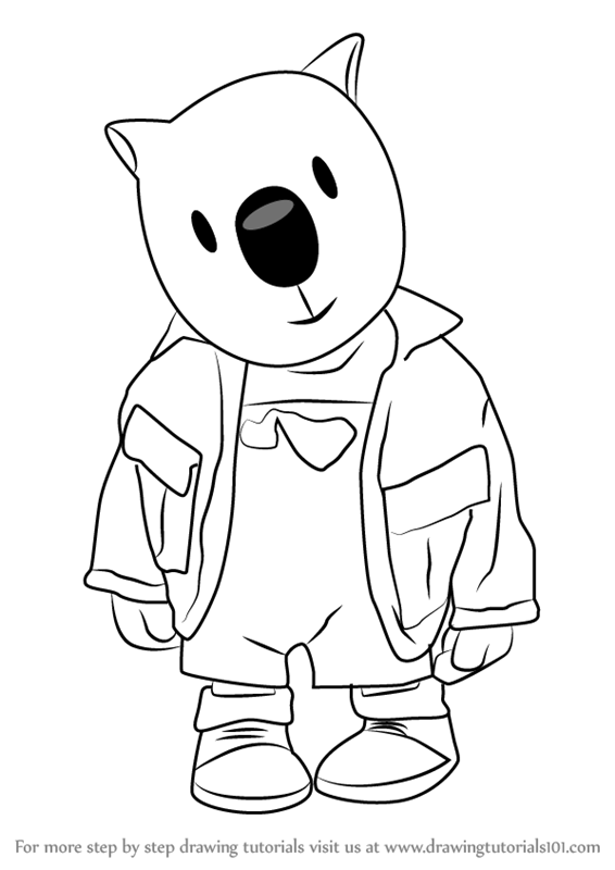 566x800 Learn How To Draw Ned From The Koala Brothers (The Koala Brothers