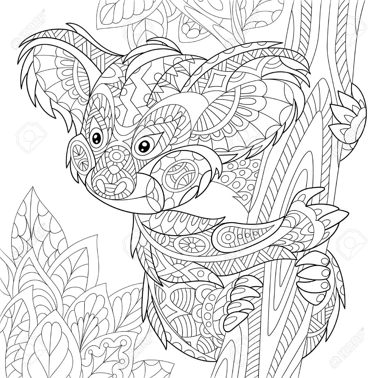 Koala Line Drawing at GetDrawings   Free download