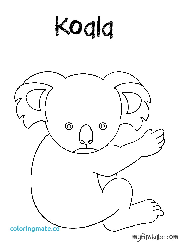 718x958 Koala Coloring Pages Inspirational Picture Of A Koala To Color