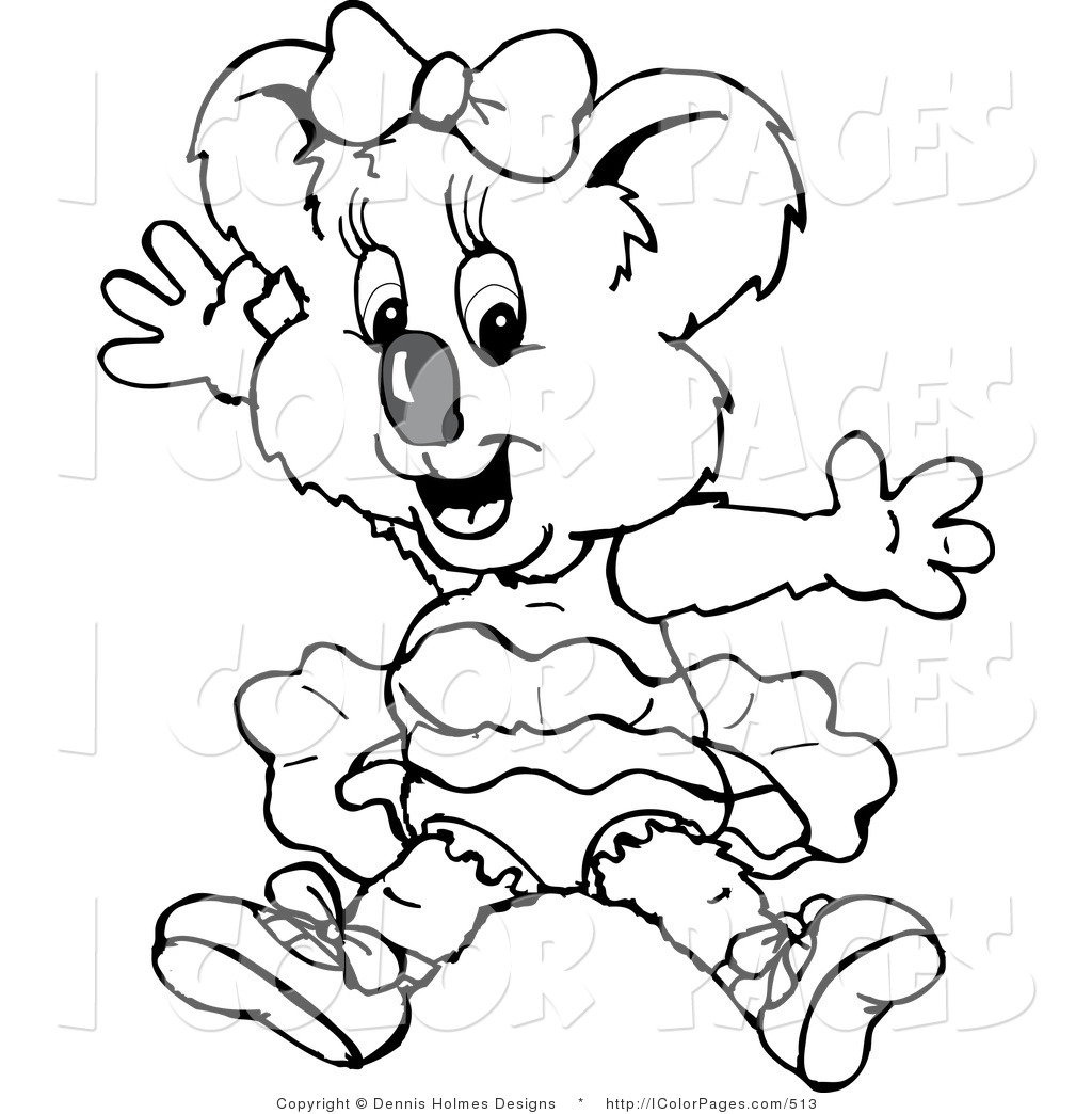 1024x1044 Vector Coloring Page Blacknd White Outline Design