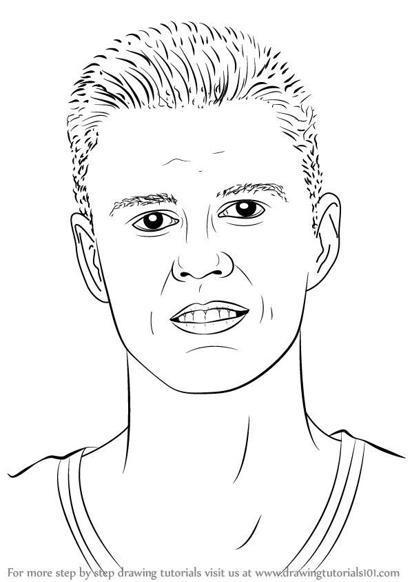598x844 Learn How To Draw Kristaps Porzingis (Basketball Players) Step By