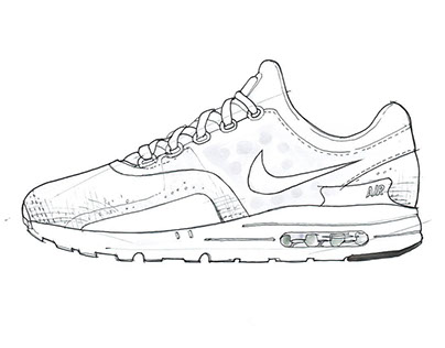 404x316 Product Sketch For Nike Airmax Daynike Zero In 9 Drawing