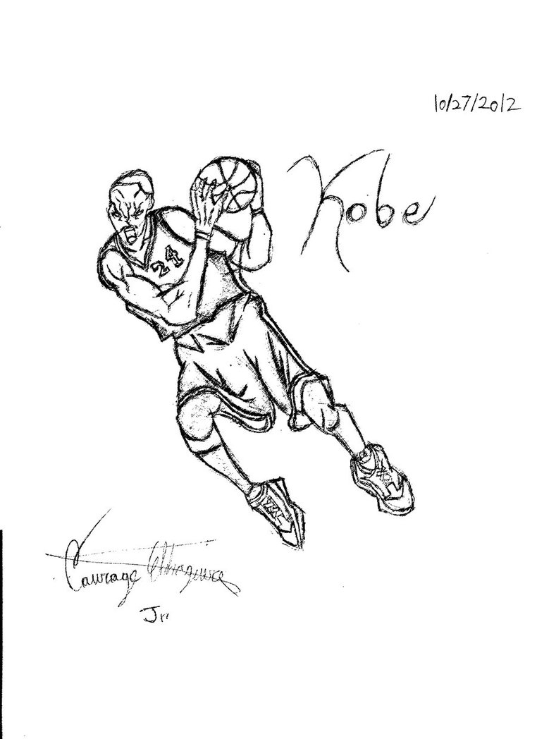 762x1048 Kobe Bryant By Keybladesword