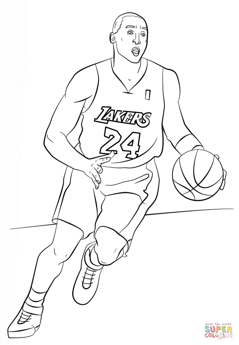 824x1186 Kobe Bryant Coloring Page Free Printable Coloring Pages Room