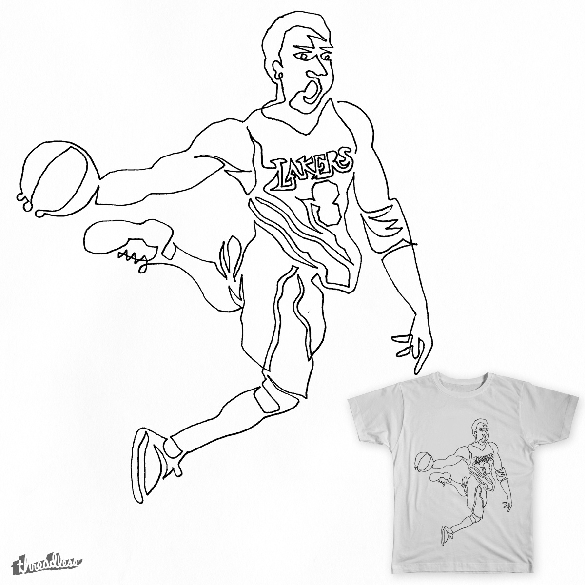 1200x1200 Score Kobe Bryant By Unsceneart On Threadless