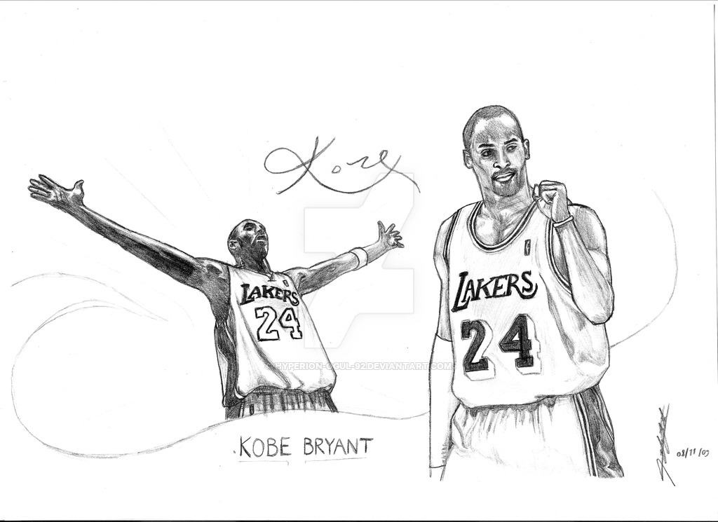 1024x745 Kobe Bryant Drawing By Hyperion Ogul 92