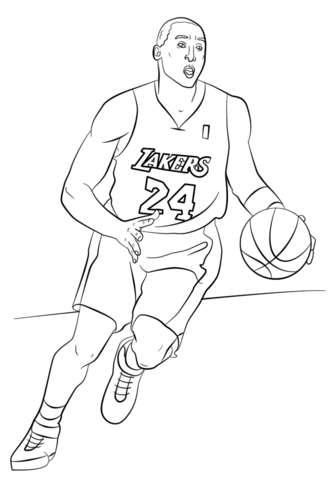 333x480 Kobe Bryant Coloring Page Free Printable Coloring Pages