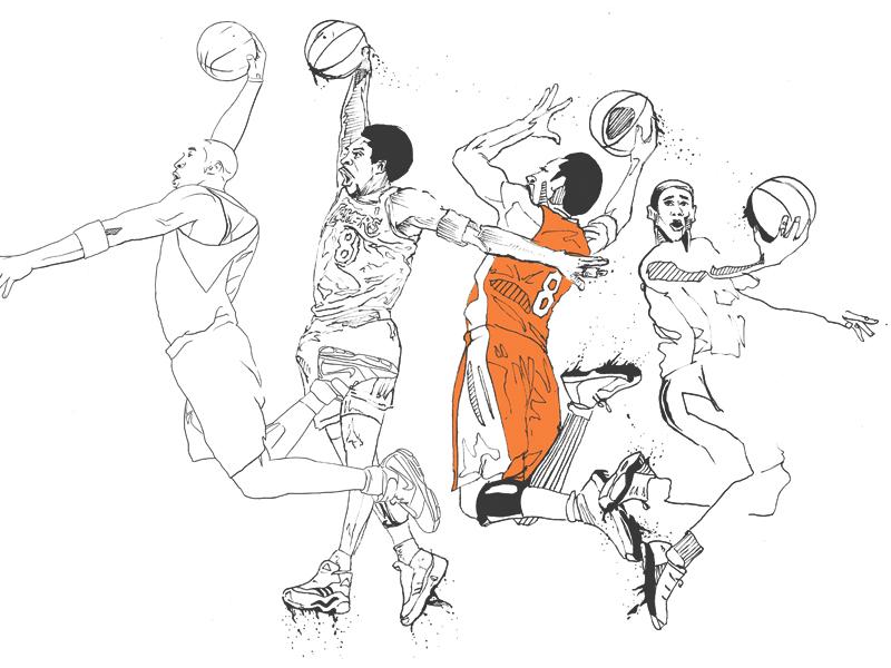 800x600 Kobe Dunk Sketch By Timothy Mcauliffe
