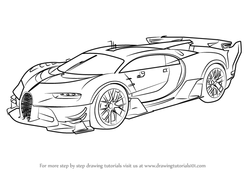 800x566 Learn How To Draw Bugatti Vision Gran Turismo (Concept Cars) Step