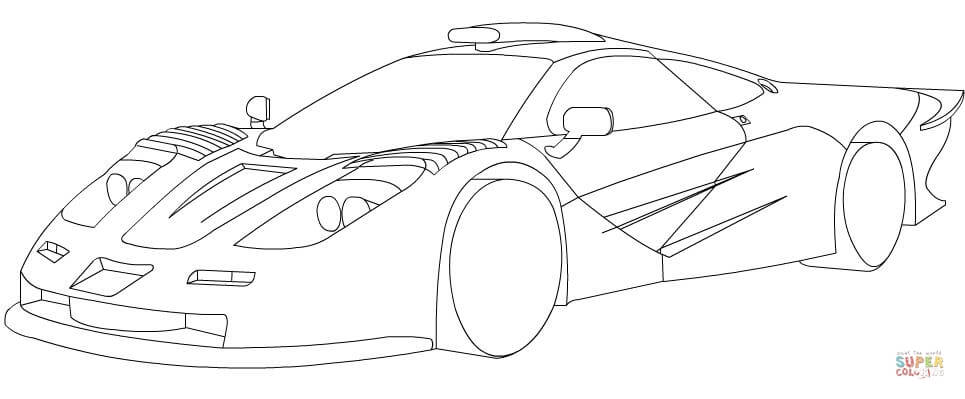 965x399 Mclaren P1 Coloring Pages