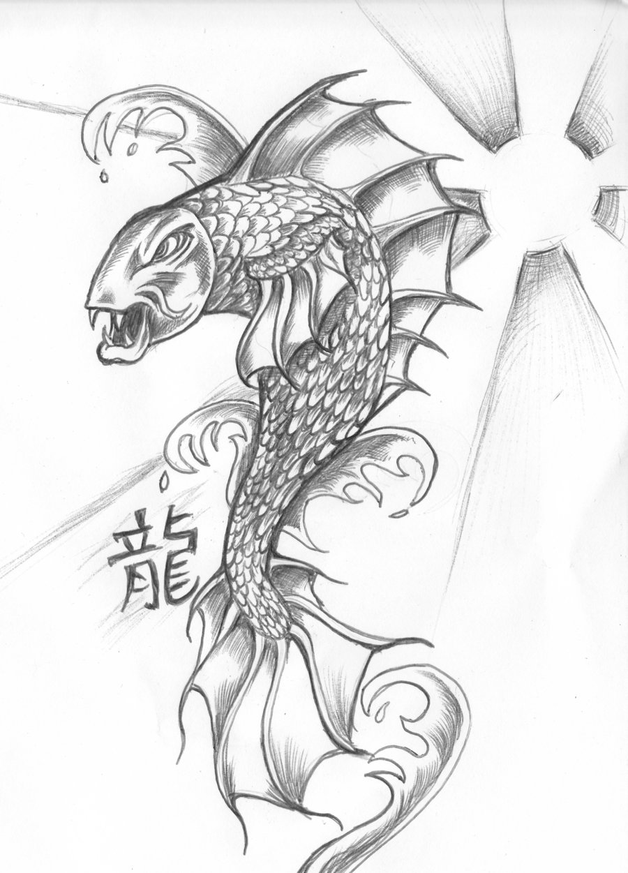 900x1251 Fantasy Koi Dragon Dragon Koi By ~nocturnal Lure