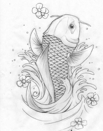 345x438 Koi Fish Sketch Latest Version Apk Androidappsapk.co