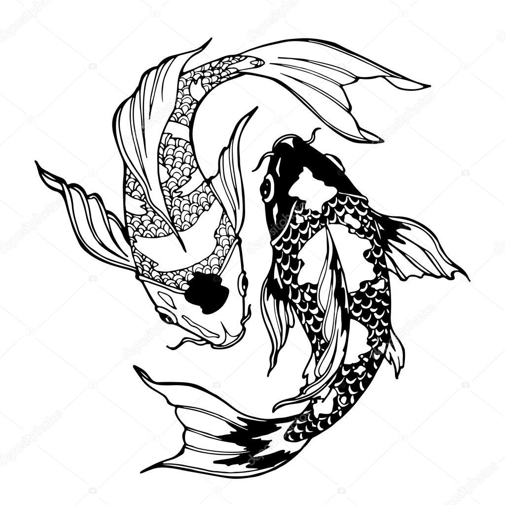1024x1024 Koi Fish Ying Yang Symbol Stock Photo Xaxalerik