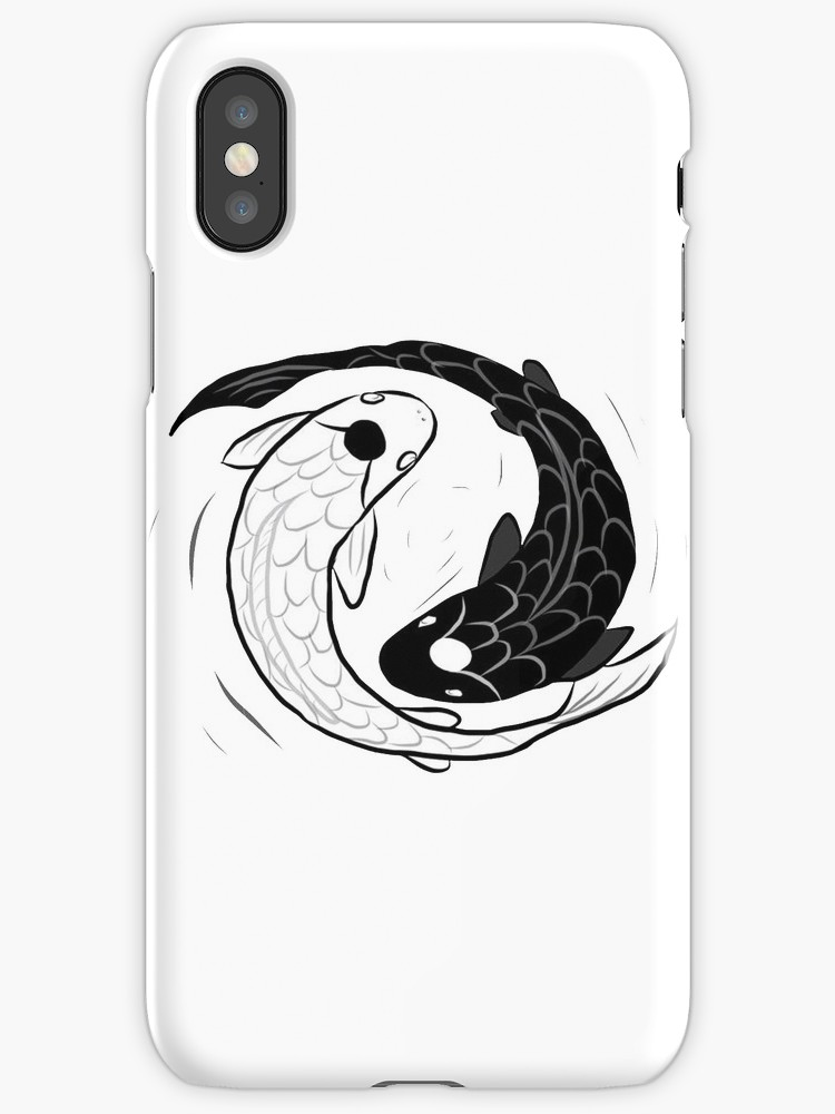 750x1000 Ipad Drawing Of Koi Fish Ying Yang Iphone Cases Amp Skins By