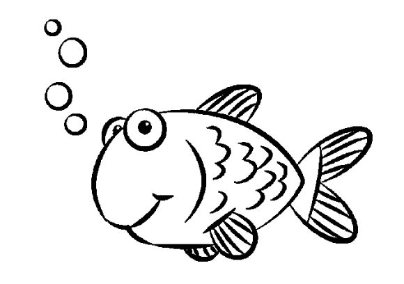 580x408 Fish Drawings For Kids