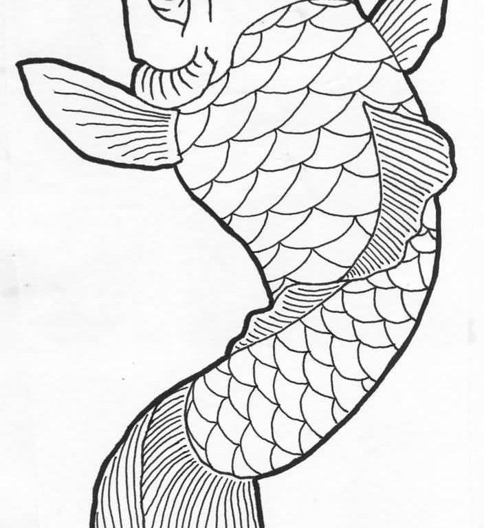 704x768 Download Simple Koi Fish Tattoo