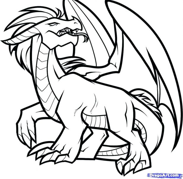618x604 Dragon Outline By Koi Fish Drawing Chinese Tattoo Pics Dragon