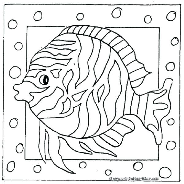 600x600 Realistic Fish Coloring Pages Fish Color Pages Printable Fish