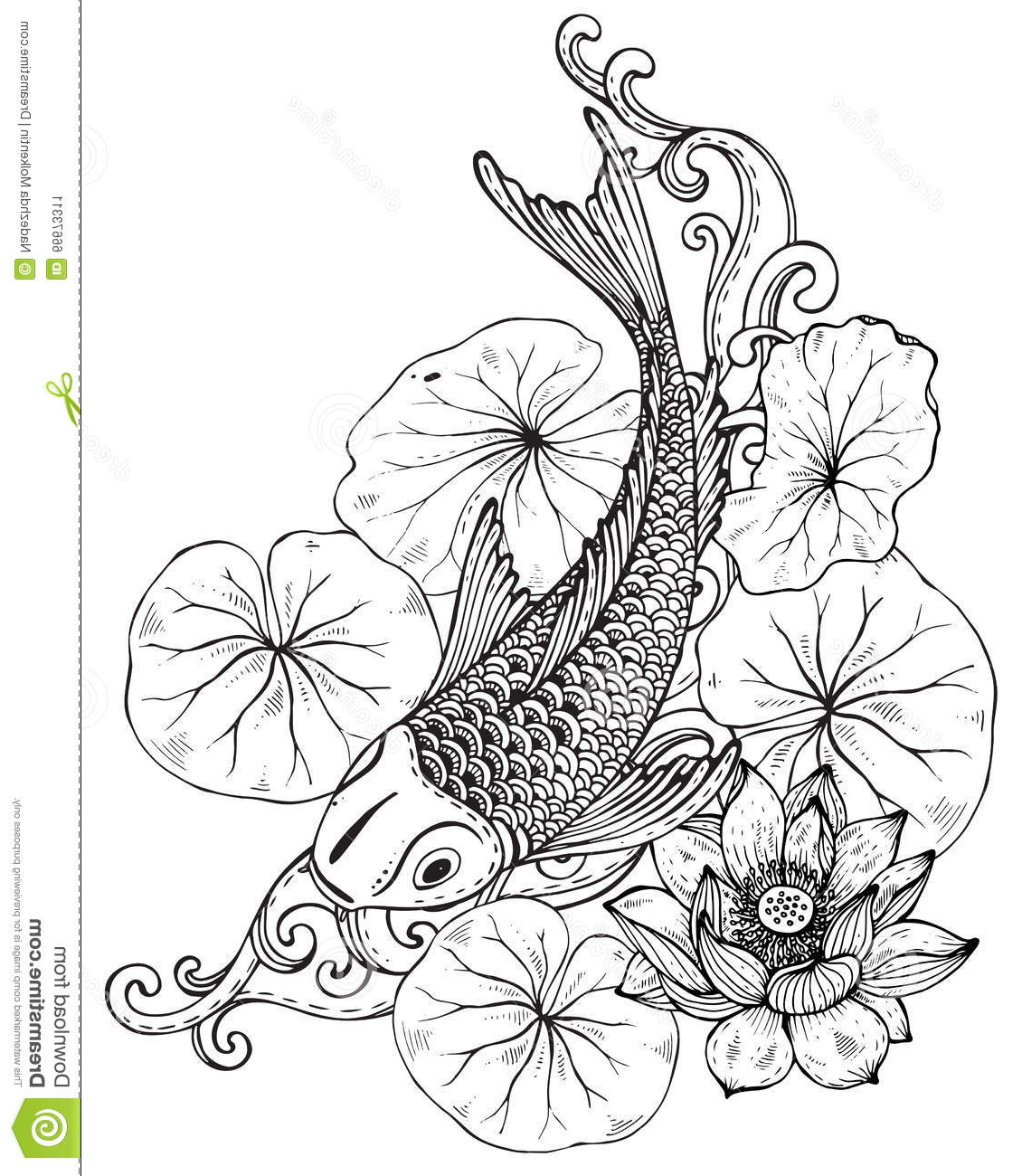Koi fish drawing step by step at getdrawings free for personal 1130x1300 drawing of lotus flower with leaf how to draw lotus step by step izmirmasajfo