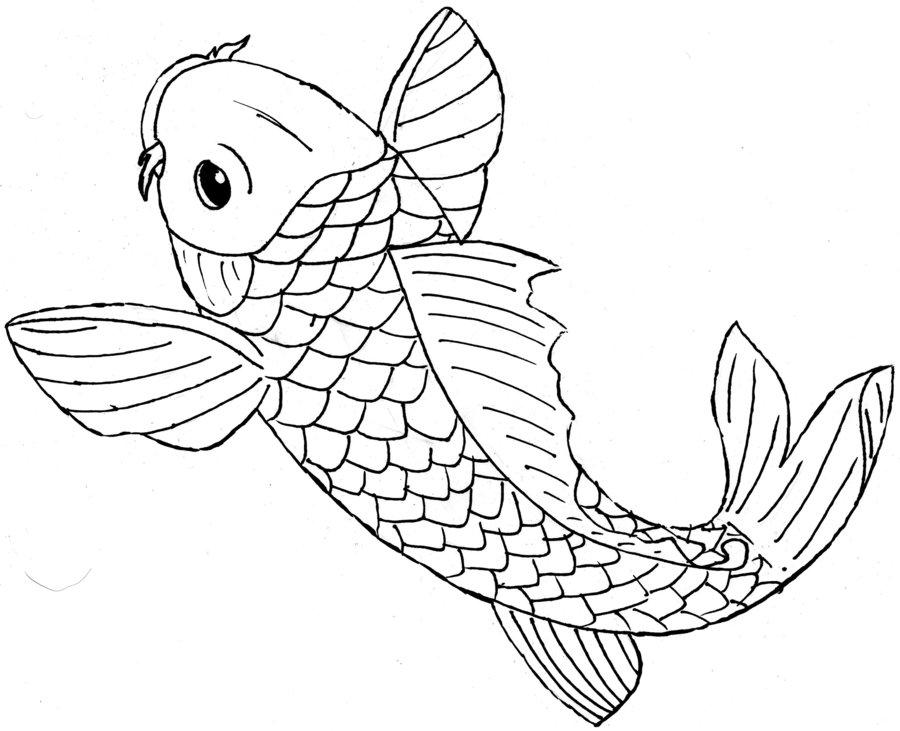 900x731 Koi Tattoo Style By Alex Owen