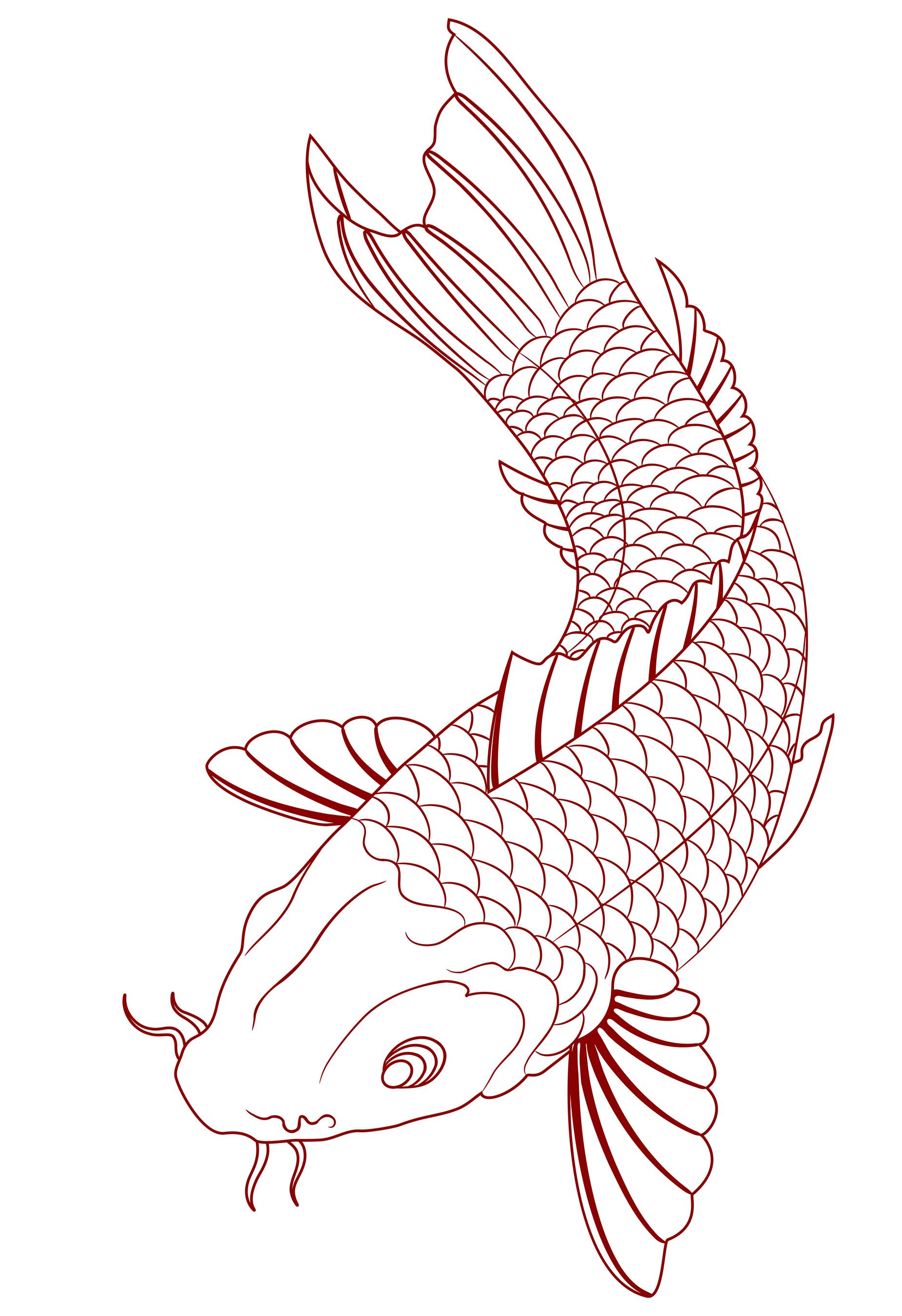 1851x2700 21 Koi Fish Tattoo Design And Ideas