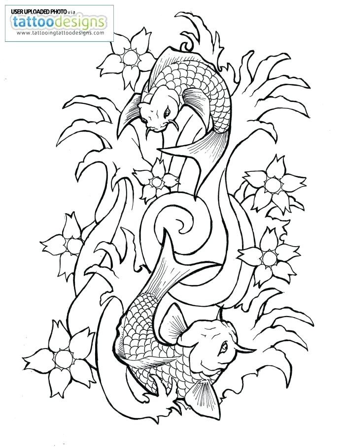 700x908 Koi Fish Outlines Fish Drawing Outline Koi Fish Patterns Stained