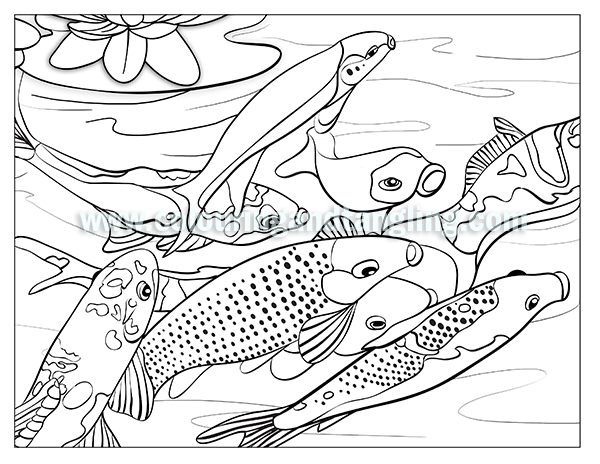 600x464 Colouring Pages Of Koi Fish Color Me Disney Colors