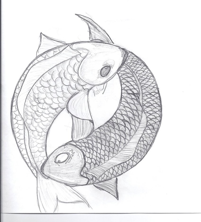 850x939 Yin And Yang Koi Fish By ~miss Lunax13 On Tat
