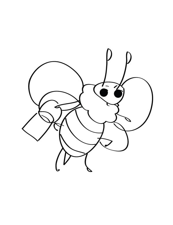 600x776 Simple Drawing Of Bumblebee Coloring Page