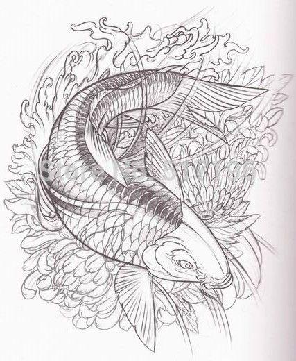 Koi Pond Drawing