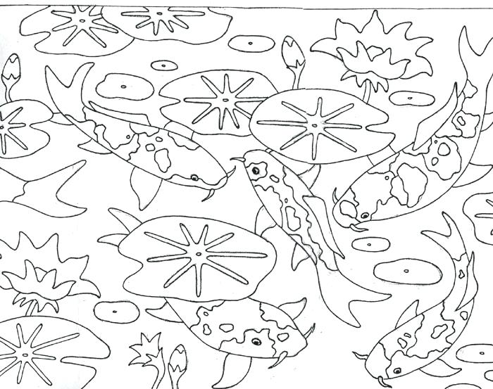 Koi Pond Drawing at GetDrawings.com | Free for personal use Koi Pond ...