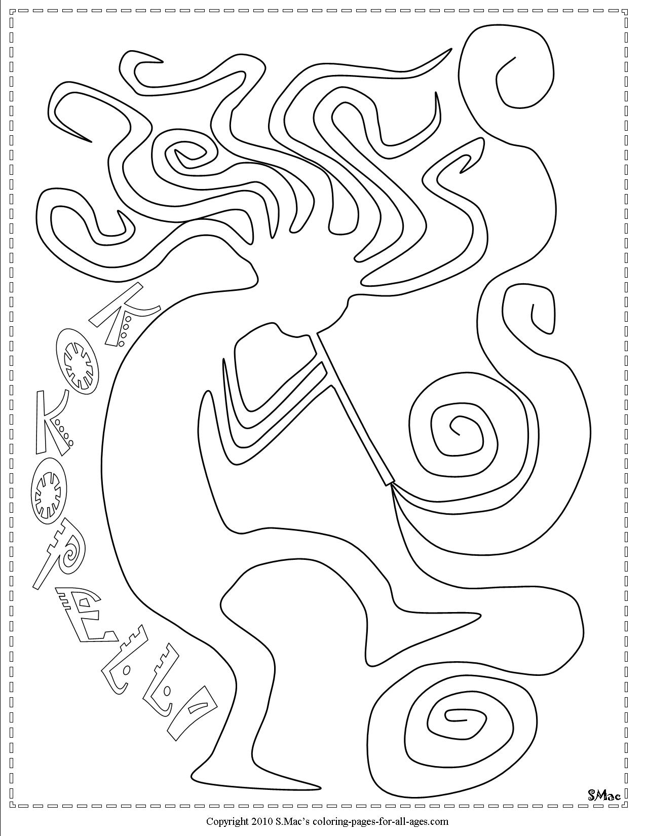 1275x1650 Kokopelli Coloring Pages S.mac's Place To Be