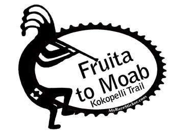 331x266 Moab, Utah Kokopelli Mountain Biking Stickerdecal