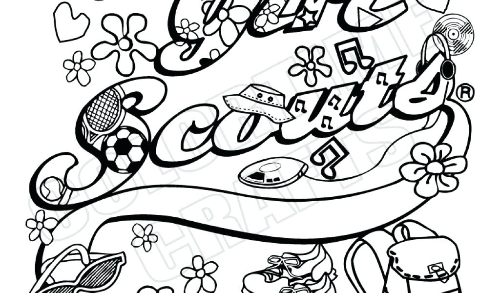 1024x600 Cookie Coloring Pages Girl Scout Cookie Coloring Sheets Girl Scout