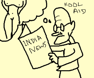 300x250 Kool Aid Man Reads The Newspaper. (Drawing By Amit Paul