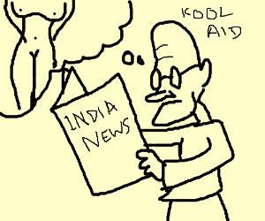 300x250 Kool Aid Man Reads The Newspaper. (Drawing By Amit Paul