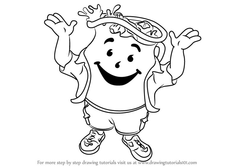 800x567 Learn How To Draw Kool Aid Man (Mascots) Step By Step Drawing
